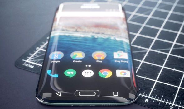 samsung galaxy s8 concept edge curved display