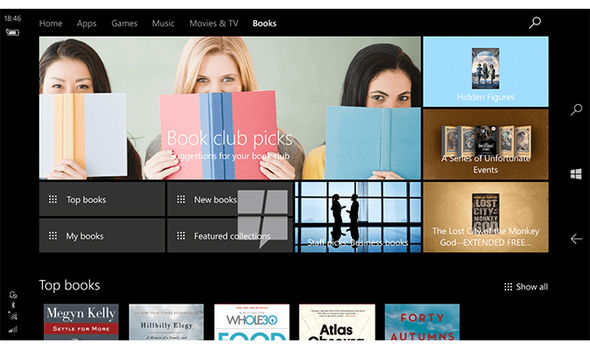 microsoft windows store ebooks upgrade