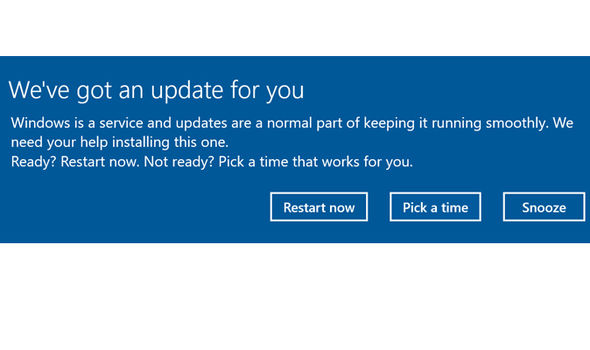 microsoft windows 10 creators update alert