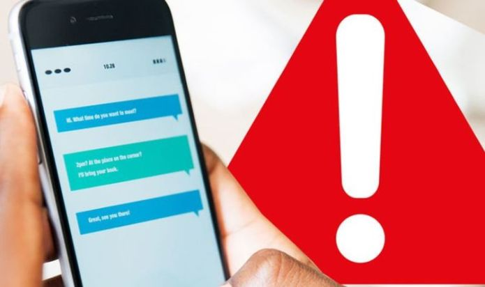 Don't open this dangerous text message! EE, Vodafone and Three send warning to customers