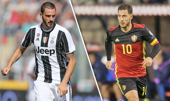 Image result for RUMOURS: Chelsea plan Hazard swap deal for Bonucci