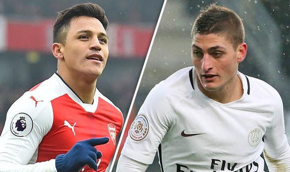 Juve targets Alexis Sanchez and Marco Varratti