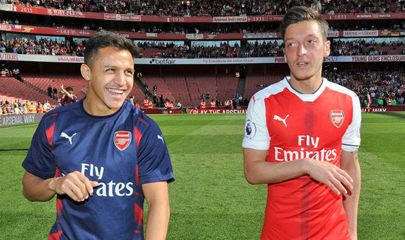 Alexis Sanchez and Mesut Ozil