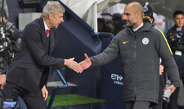 Image result for I wanted to play for Arsene Wenger at Arsenal - Pep Guardiola