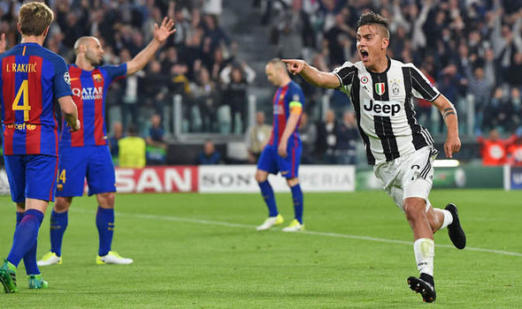 Barcelona v Juventus injury news Dybala