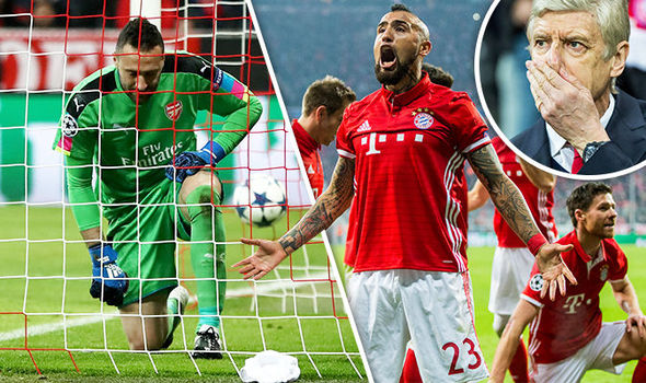 Bayern Munich v Arsenal match report