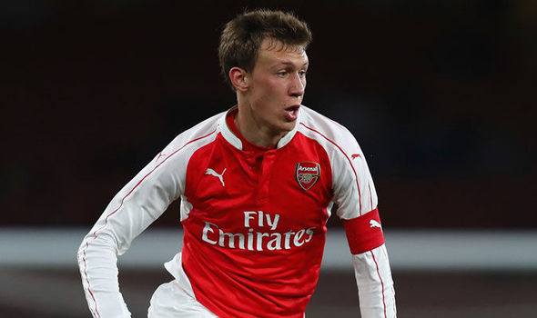 Krystian Bielik making an appearance for the Arsenal youth side