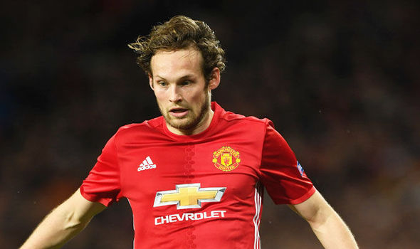 Daley Blind in Europa League action for Manchester United