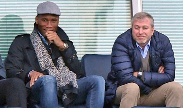 Didier Drogba Roman Abramovich at Chelsea Sunderland Premier League game