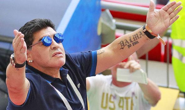 Diego Maradona Lionel Messi Argentina World Cup