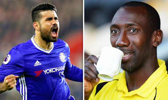Diego Costa and Jimmy Floyd Hasselbaink