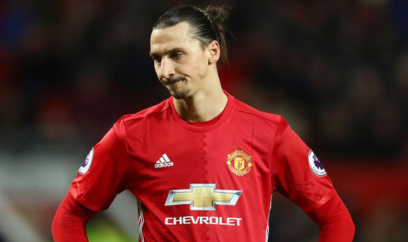 Zlatan Ibrahimovic in action for Manchester United against Hull
