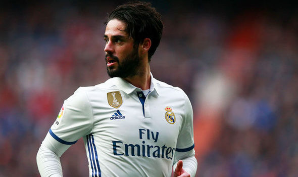 Isco in action for Real Madrid against Espanyol