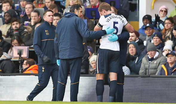 Jan Vertonghen subbed off