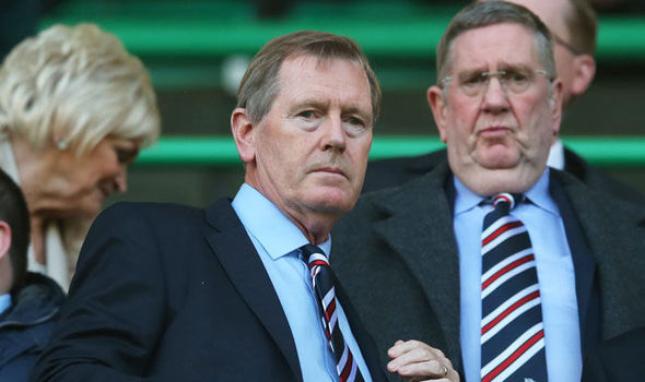 Rangers chairman Dave King (left)