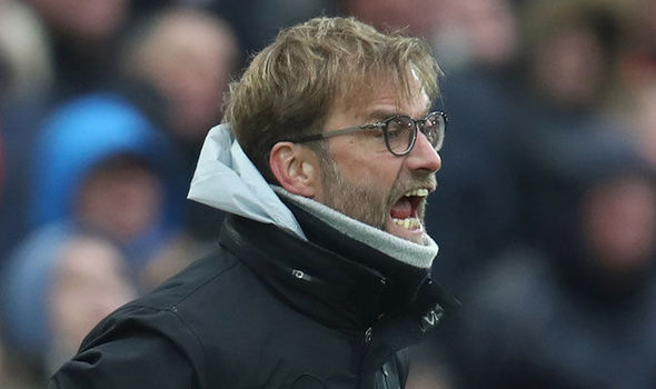 Jurgen Klopp during Liverpool's game against Swansea