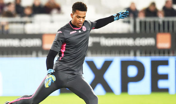 Alban Lafont in action for Toulouse