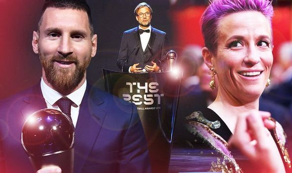 Lionel Messi stars at FIFA Best Awards as Jurgen Klopp and Megan Rapinoe also scoop gongs