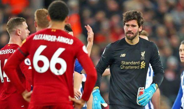 Liverpool Player Ratings Vs Brighton Alisson Shocker