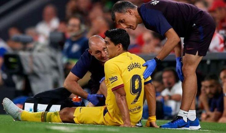 Image result for Suarez injury