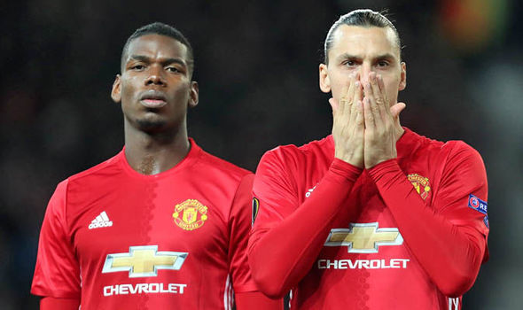 Paul Pogba and Zlatan Ibrahimovic at Man Utd