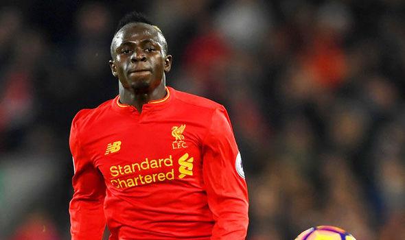 Sadio Mane in action for Liverpool against Tottenham