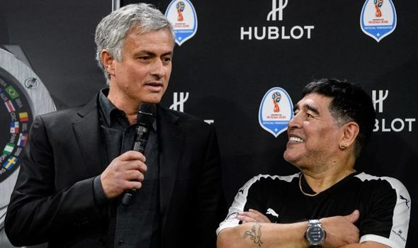 Diego Maradona dead: Jose Mourinho pays emotional tribute after Argentina  icon's death | Football | Sport | Express.co.uk