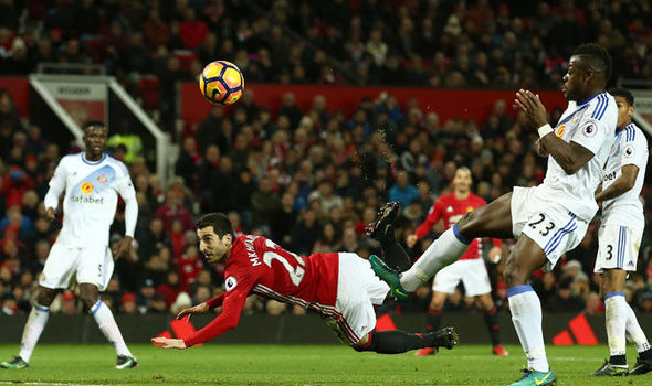 Henrikh Mkhitaryan scoring with a scorpion kick against Sunderland