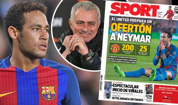 Jose Mourinho, Neymar