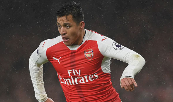 Alexis Sanchez in action for Arsenal against Watford