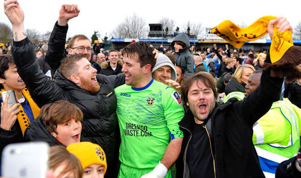 Sutton goalkeeper Ross Worner has been Arsenal fan since he was a kid