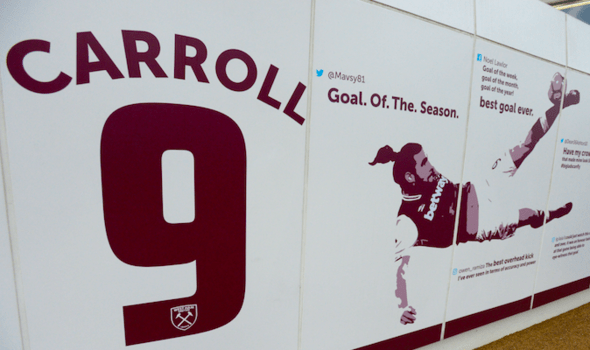 Andy Carroll mural at West Ham