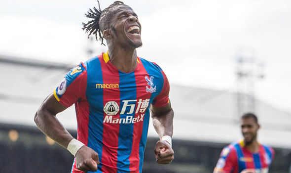Wilfried Zaha Crystal Palace West Brom Premier League