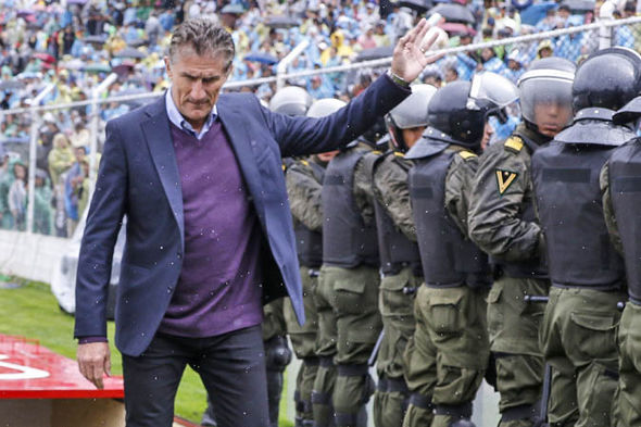 Argentina manager Edgardo Bauza