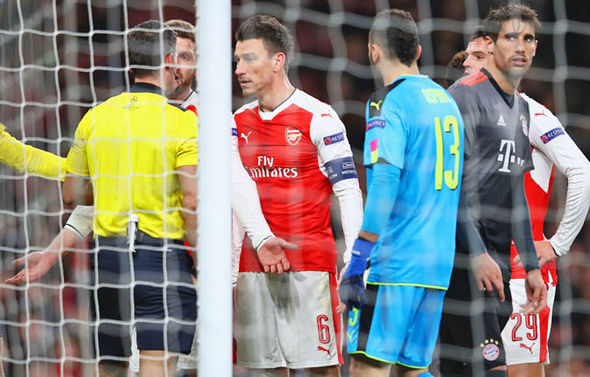 Arsene Wenger was furious with the red card on Laurent Koscielny