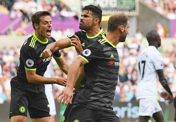 Azpilicueta celebrates a Chelsea goal