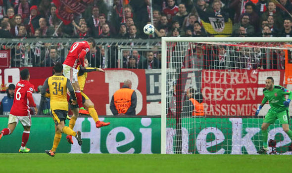 Bayern Munich v Arsenal goals