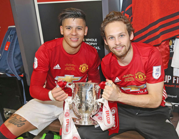 Daley Blind Marcos Rojo