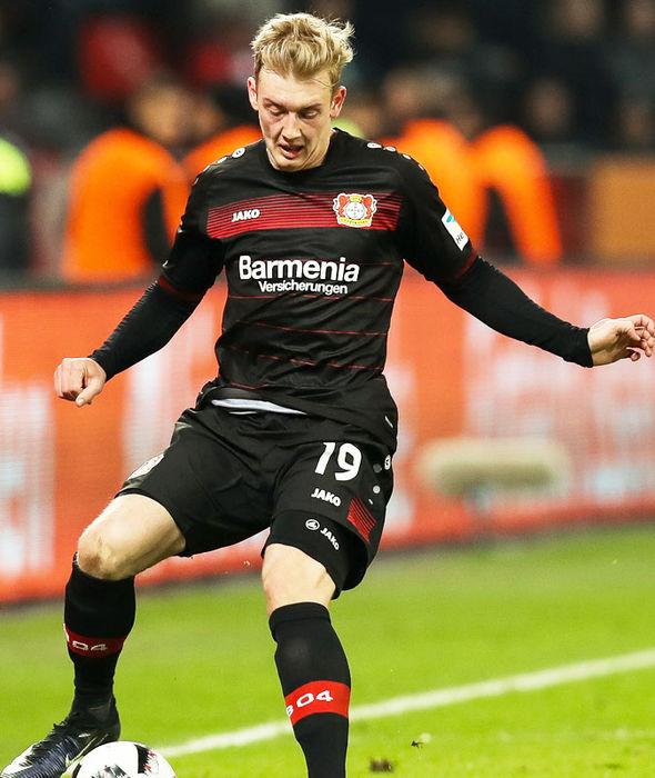 Julian Brandt in action for Bayer Leverkusen