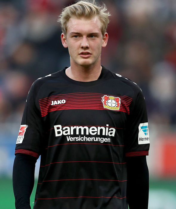 Julian Brandt in action for Bayer Leverkusen