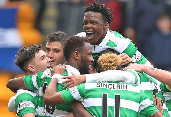Celtic goal celebration