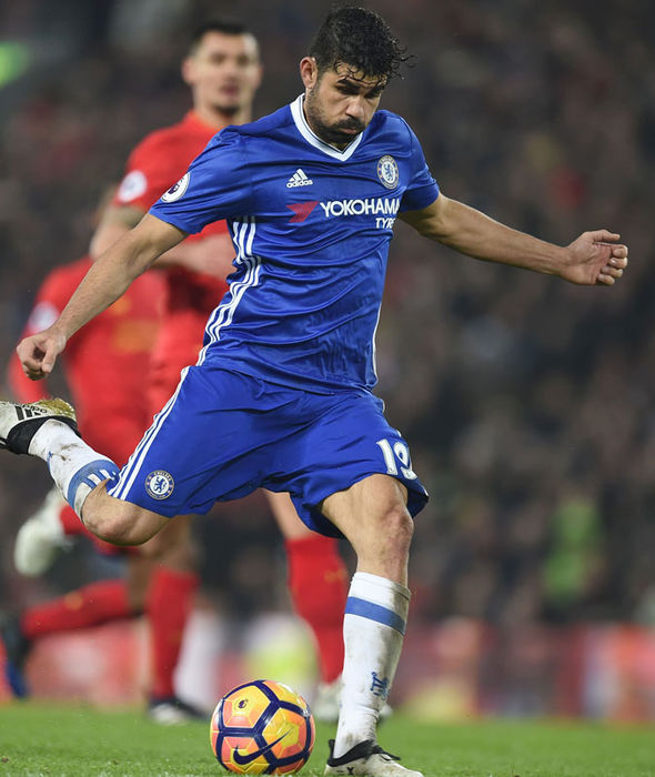 Diego Costa in action for Chelsea against Liverpool