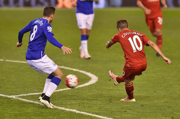Coutinho scored Liverpool's fourth in the 4-0 win over Everton last season