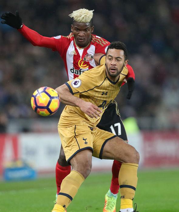 Mousa Dembele in action for Tottenham against Sunderland