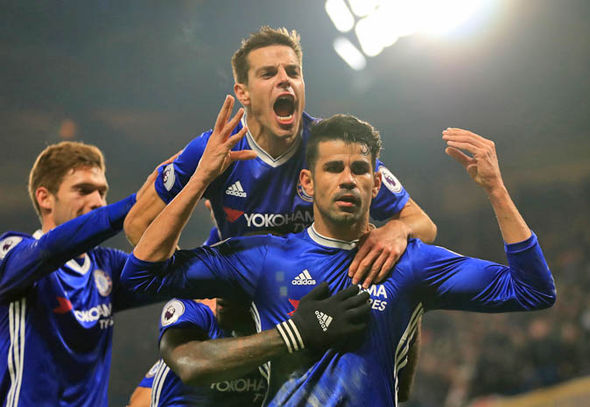 Diego Costa scored in the 2-0 win over Hull