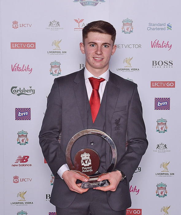 Earlier this month Woodburn won Liverpool's Academy Players' Player of the Season award.