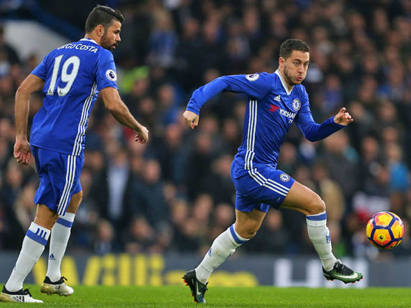 Eden Hazard and Diego Costa have combined for 24 goals this season