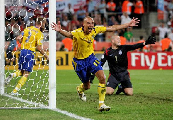 England vs Sweden Henrik Larsson