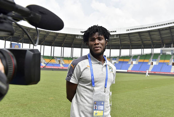 Frank Kessie at the Africa Cup of Nations
