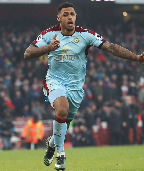 Andre Gray equalises from the penalty spot against Burnley